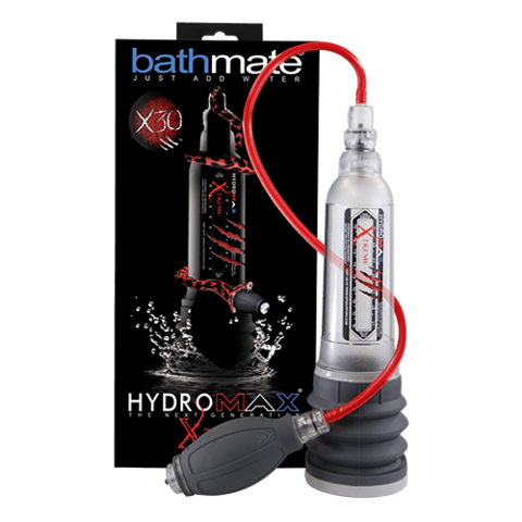 Bathmate Hydromax Xtreme X30 Hydro Pump and Kit Clear